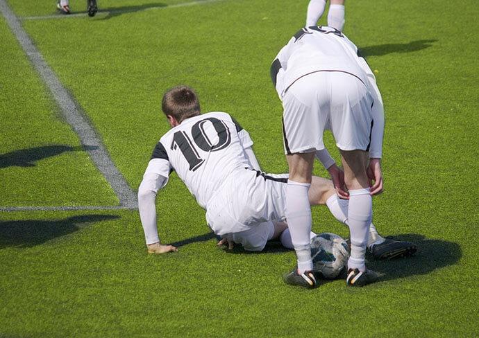 サッカー選手の写真